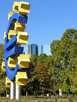 Euro sign frankfurt hesse germany