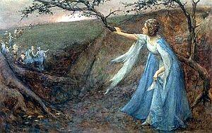 Titania welcoming her fairy bretheren