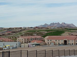 New development on Las Cruces' east mesa.