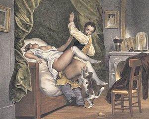 Nicolas Tassaert-Die eifersüchtige Katze