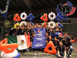 English: Panteras FIRST Robotics team wins the...