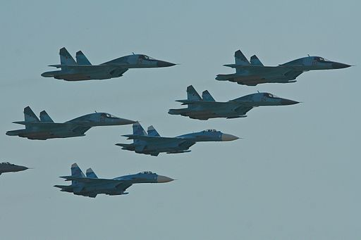Russian Air Force fighter formation - Zhukovsky 2012 (8724698862)