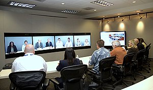 Teliris VirtuaLive Telepresence System. Image ...