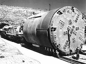 A tunnel boring machine that was used at Yucca...