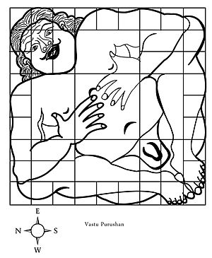 This is the concept drawing of 'Vastu Purushan...