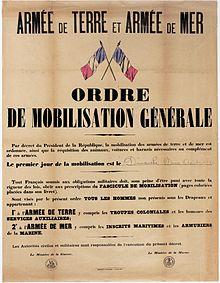 Mobilisation Franaise De 1914 Wikipdia