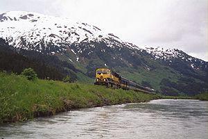 English: Alaska Railroad train