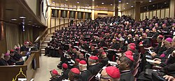 A session of the Synod of Bishops