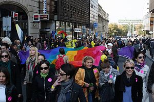 English: First successful gay pride parade in ...