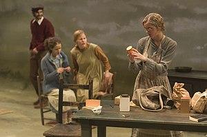 English: Undergraduate acting students perform...
