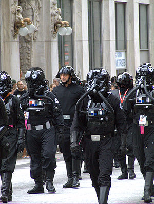 Soldiers of the Death Star crew (the parade at...