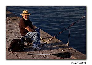 Español: pescador deportivo