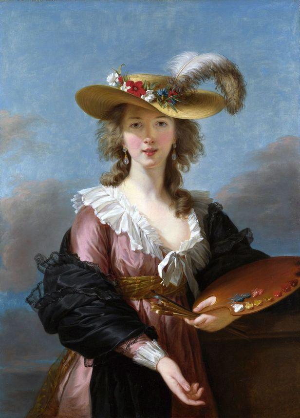 """""""Self-portrait in a Straw Hat"""" byLouise Élisabeth Vigée Le Brun"""