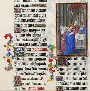 The start of the Nunc dimittis in the Très Ric...
