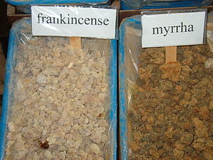 English: Frankincense and myrrh for sale in a ...