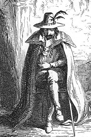 """English: """"Guy Fawkes in Ordsall Cave""""..."""
