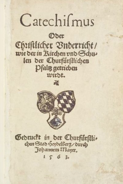 Titelseite Heidelberger Katechismus