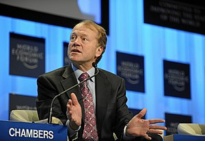 DAVOS/SWITZERLAND, 30JAN10 - John T. Chambers,...