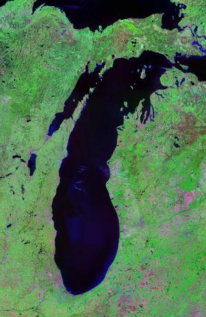 Lake Michigan - Landsat Satellite Photo