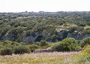 Barranco de Algendar, en Menorca.
