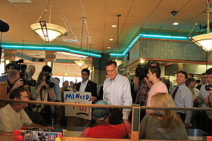 English: Presidential candidate Mitt Romney ta...