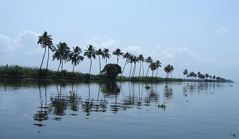 Vembanad lake in Kerala