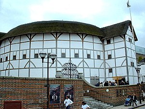A reconstruction of the Globe Theatre in Londo...