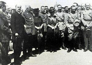 Ο Πάγκαλος με τον Παρασκευόπουλο και τον Στεργιάδη στη Σμύρνη, Οκτώβριος 1920