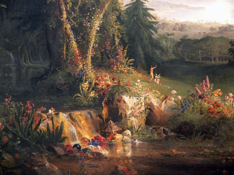 File:Thomas Cole The Garden of Eden detail Amon Carter Museum.jpg