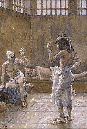English: Joseph Interprets the Dreams While in...