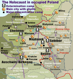 Nazi extermination camps in occupied Poland, m...