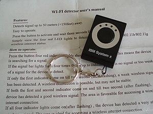 A Wi-Fi detector