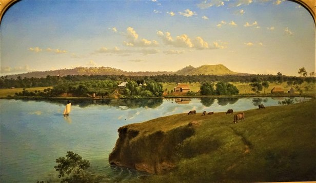 """Purrumbete from across the Lake"" by Eugene von Guerard - National Gallery of Australia"