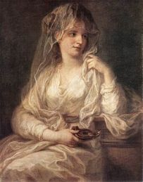 Angelica Kauffmann - Portrait of a Woman Dressed as Vestal Virgin - WGA12101