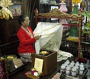 English: Mirota Batik, Yogyakarta, Indonesia. ...