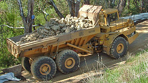 Caterpillar D350D Articulated Off Road Truck.