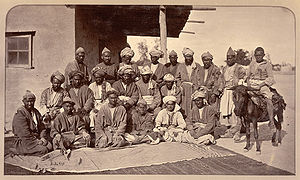 Besudi Hazara chieftains, taken by John Burke ...