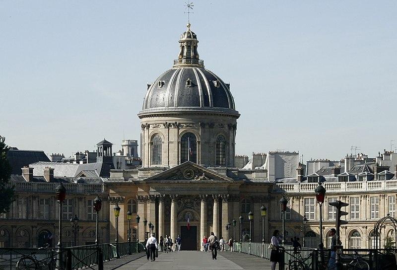 L'Institut de France, including L'Académie française. Nitot, Wikimedia Commons.