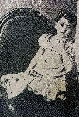 Română: Iulia Hasdeu la 5 ani.
