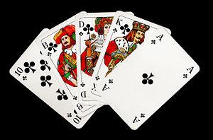 Deutsch: Straight Flush beim Poker