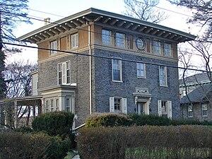 English: Sam Austin House in Chestnut Hill His...