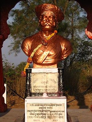 Bronze bust of Tanaji Malusare, Sinhagad, Maha...