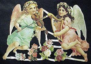 Victorian time German diecut angels
