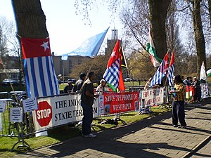 West Papuans demonstrating in The Hague