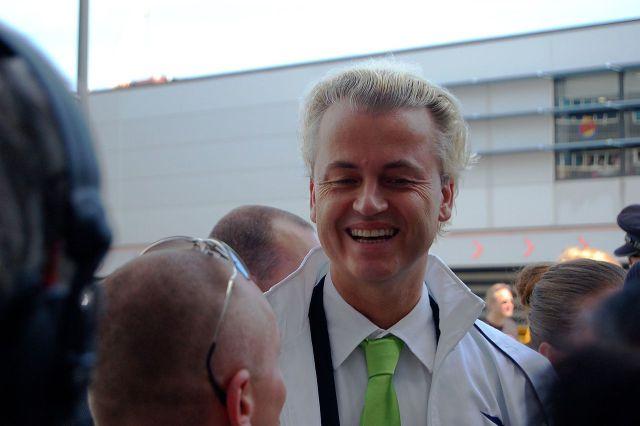Geert Wilders at meeting