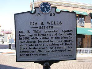 Memphis, Tennessee. Ida B. Wells marker