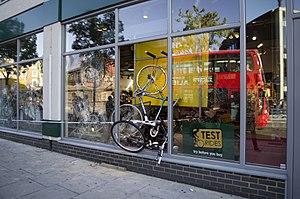 2011 London riots looted bike shop