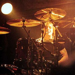 Phil Rudd, taken in 1995 in Seattle during AC/...