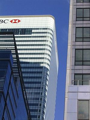 HSBC building, Canary Wharf, London, England.