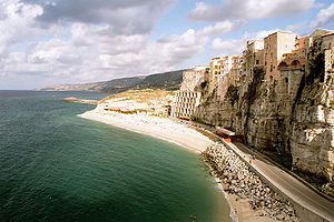 Cliff at Tropea.
